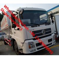 Botton price customized Dongfeng 4*2 RHD 20m3 animal feed delivery truck for sale, 10tons poultry feed