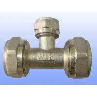 compression brass fitting reduce tee for PEX-AL-PEX Manufactures