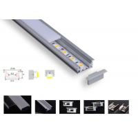 Strong Pc Led Aluminium Channel , Pcb 12.2mm Led Tape Channel For Floor Lighting Manufactures