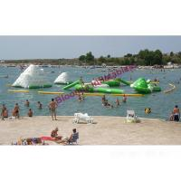 Quality 20m Long Inflatable Water Park In Lake, Floating Aquatic Sports Park For Kids Party for sale