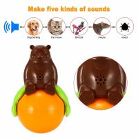 Inventions Pet Tumbler Toy Sound And Light Ball five kinds of sounds Manufactures