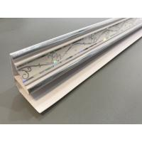 Customized Top Cornice Plastic Corner Profile White With 5.95m Shining Part Manufactures