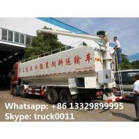 Quality 40cbm animal bulk feed tank truck for sale,CLW brand 20tons-25ton dongfeng farm-oriented feed delivery truck for sale for sale