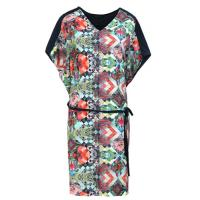 Custom black womens formal dresses Fashion V Neck floral dresses Manufactures
