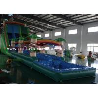 Green Jungle Inflatable Family Pool / Rectangular Inflatable Pool Durable Manufactures