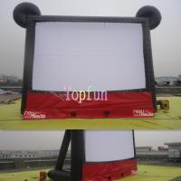 Amazing Cute Mickey Outdoor Inflatable Movie Screen / Theater Screens With Two Side Projecting Manufactures