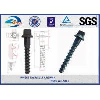 Buy cheap Ss8 Railway Spike Q235 Sleeper Screw Spike SGS standard ISO898-1 from wholesalers