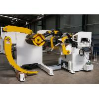 Cold Rolled Steel Hydraulic Decoiler Feeder PLC With Coil Car For Automobile Parts Manufacturing Manufactures