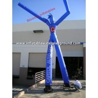 2 Legs Blue Advertising Inflatable Arm Waving Tube Man / Dancing Balloon Man Manufactures