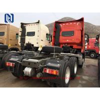 Red 6 x 4 Prime Mover Vehicle With Euro III Emission Engine 340 HP,420HP, SINOTRUK HOWO 10 Wheel Tractor Truck, LHD/RHD Manufactures