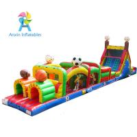Quality Outdoor Sports theme inflatable air tunnel obstacle course combo for sale
