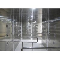 Quality 90 Degree Turn Personnel Air Shower Tunnels , Clean Room Equipments With Painted for sale