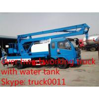 Quality Dongfeng Tianjin Water tank with hydraulic aerial working platform, high altitude operation truck with water tank for sale
