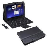Slim Adjustable stand grain leather Samsung Galaxy Tab Case with Bluetooth Keyboard Manufactures