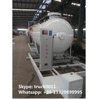 8,000Liters mobile skide mounted lpg gas propane filling station for gas cylinder for sale, skid lpg gas plant for sale Manufactures