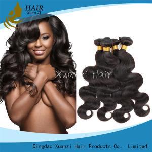 Buy cheap 7A Brazilian Body Wave Hair Bundles , 100% Natural Virgin Hair Extensions from wholesalers