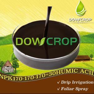 DOWCROP HOT SALE HIGH QUALITY WS@HUMIC ACID NPK PLUS TE LIQUID DARK BROWN LIQUID 100% WATER SOLUBLE FERTILIZER ORGANIC Manufactures