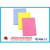 Needlepunched Nonwoven Cleaning Wipes Color Dyeing Disposable Or Recycle use Manufactures