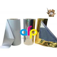 Various Color Metalized Polyester Film For Lamination 180 - 1300mm Roll Width Manufactures