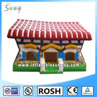 Popular 0.55mm PVC Obstacle Course Bounce House Theme Park Cool Manufactures