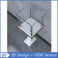 Quality Free 3D design modern fashion wooden tempered glass display cabinets with 4 pcs led spot lights for sale
