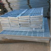 Galvanized steel grating stair tread for outdoor passageway Manufactures