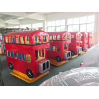 London Bus and Fire Fighting Truck Coin Operated Arcade Kiddie Rides Fiberglass Material Manufactures
