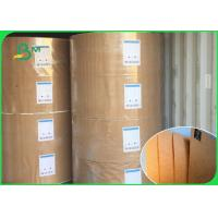China 100% Virgin Pulp Brown Kraft Wrapping Paper Roll 100g - 450g Weight Anti Curl on sale