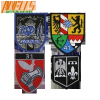 China Wholesale Quality GARDE MUNICIPAL Embroidery Patch with Iron On Backing on sale