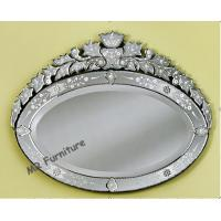 Console Oval Venetian Mirror , 89 * 69cm Height Frameless Venetian Mirror Antique Manufactures