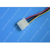 Quality Molex 4 Pin To 15 Pin SATA Hard Drive Power Cable Female To Male Length 500mm for sale
