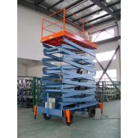 Vertical hydraulic elevating platform , Hospital telescopic electric scissor lift Manufactures