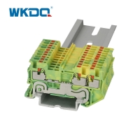 Multi - Conductor Small Wire Terminal Block Yellow and Green Electrical Connector Blocks Manufactures