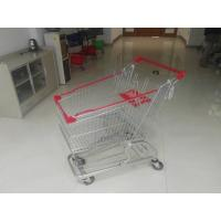 European Steel 100L Low Tray Supermarket Shopping Trolley With Blue Baby Seat Manufactures