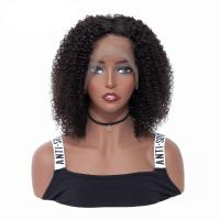150% Density Lace Front Human Hair Wigs / Indian Remy Human Hair Kinky Curly Front Lace Wig Manufactures