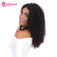 Afro Curly 100 Human Hair Lace Front Wigs , 8A Grade Wavy Lace Front Wigs Manufactures
