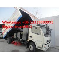 Dongfeng 4*2 LHD road sweeper truck (2cbm water tank+5cbm wastes van) for sale, best price Dongfeng sweeping vehicle Manufactures