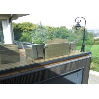 China U Channel Aluminum Deck Railing Systems Tempered Glass Guardrail For Residential Fence on sale
