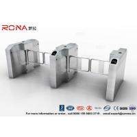 Fingerprint Entrance Swing Barrier Gate Stainless Steel For Handicap Channel Manufactures