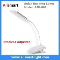 S-shaped White Students Solar Powered Reading Desk Lamp With Clamp Clip Snakelike Led Table Lights Bedroom Nightlight Manufactures