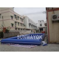 Blue Portable Inflatable Swimming Pools 0.9mm PVC for Water Ball Manufactures
