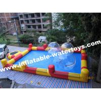 0.6mm Plato PVC Tarpaulin Red and Blue Inflatable Swimming Water Pool for amusement park Manufactures