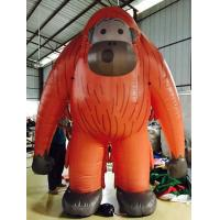 Exhibition Decoration Inflatable Advertising Products Monkey Figurines Orange Manufactures