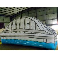 White / Blue Inflatable Advertising Products House Model Customized Manufactures