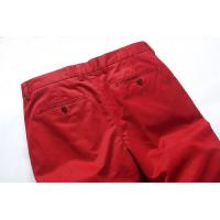 Quality Red Cotton Summer Mens Casual Pants Eco Friendly Long trousers for sale