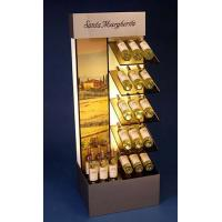 Brown Mdf Display Stands Acrylic Wine Bottle Holder With Led Insert Manufactures