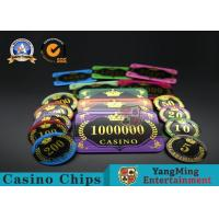 Buy cheap Acrylic Crystal RFID Rectangular Poker Chips Plaque Casino Jeton Real Gaming from wholesalers