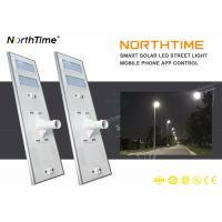 90W IP65 Solar LED Street Light with Phone App Control System Manufactures