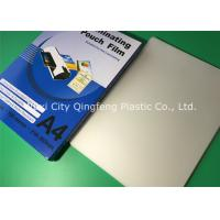 China A3 A4 Size Laminating Pouches 80mic 100mic 125mic Gloss PET Laminating Film Pouches on sale