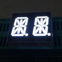 "Ultra Bright White 0.54"" 14 Segment Led Display Dual Digit common anode For Instrument Panel Manufactures"